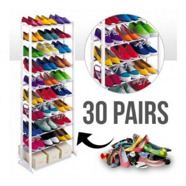 0 Layer Portable Shoe Rack