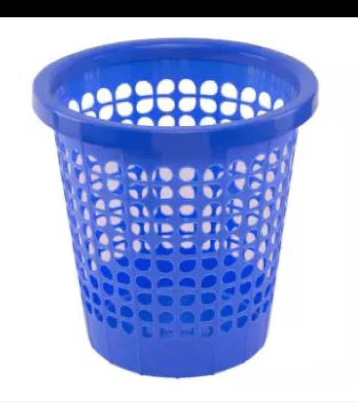 Classic-Paper-Basket--Flower---Blue