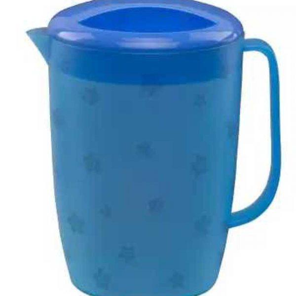 Jug-Floral-3L-Trans.-Blue-(Akij-Plastics)