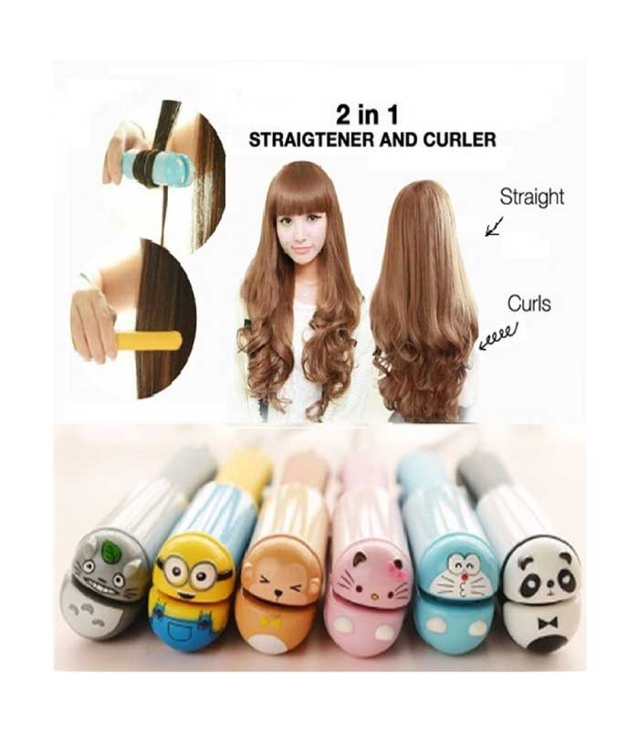 Kemier Mini Hair Straightening and Curling Iron