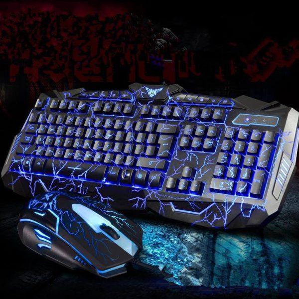 UThink V100 Gaming 3 Color Backlight Keyboard With Mouse